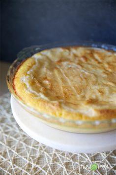 Peaches 'n Cream Cheese Cake Recipe // TriedandTasty