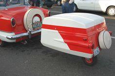 Vintage fiberglass trailer via Oldtrailers. Com
