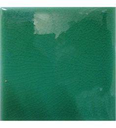 Piastrella da Rivestimento per Bagno Verde Smeraldo 10x10 Cerasarda Pitrizza Craquele