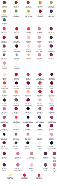 Jessica GELeration Colour Chart Mobile