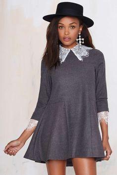 UNIF Doll Lace Dress - Gray