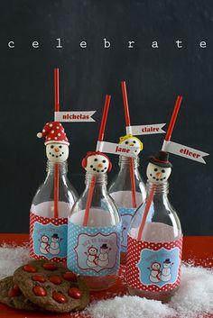 snowman bottles!