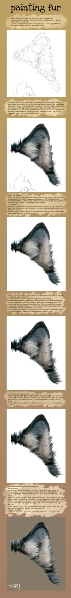 Fur Painting Tutorial by *Novawuff on deviantART via PinCG.com