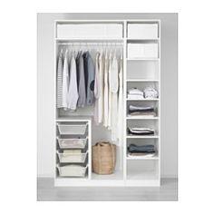 IKEA - PAX, Armoire-penderie, charnière fermeture silencieuse, 150x60x236 cm, , Garantie 10 ans gratuite. Détails des conditions disponibles en magasin ou sur internet.Vous pouvez facilement adapter cette combinaison standard PAX/KOMPLEMENT à vos besoins et selon votre goût à l'aide de l'outil de planification PAX.Charnières avec amortisseur intégré pour une fermeture des portes en douceur et en silence.Structure peu profonde, idéale pour les petits espaces.Pour organi...