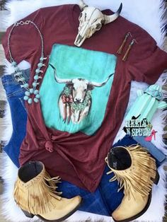 Cowgirl Style Outfits, Country Style Outfits, Cowgirl Outfits, Western Outfits, Cute Outfits, Cowgirl Clothing, Country Dresses, Cowgirl Fashion, Gypsy Cowgirl Style