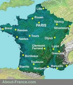 An introduction to the Auvergne - the region and its principal tourist attractions. France City, France Map, South Of France, France Travel, Travel Europe, Paris Hotels, Strasbourg, Toulouse, Weather In France