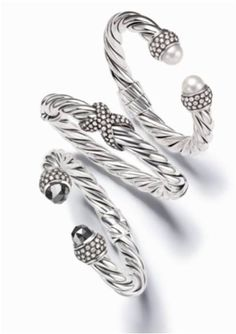 Moonlight Ice bracelets - classically influenced, sculptural in design and distinctively detailed.