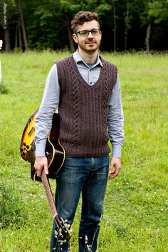 bristol ivy sweater vest knitting pattern on twist collective
