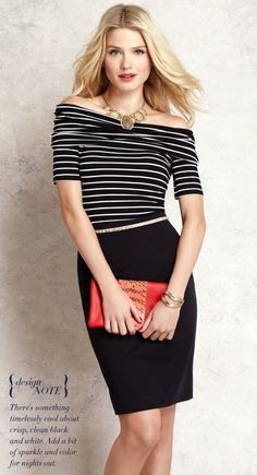 Nautical Inspired Top  We love this Striped Off the Shoulder Top. The nautical inspired look is perfect for summer!
