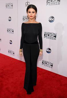 American Music Awards 2014 Red Carpet Dresses | POPSUGAR Fashion - Selena Gomez's backless number
