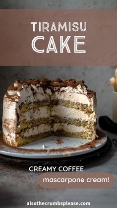Cake Frosting Recipe, Frosting Recipes, Cake Recipes, Dessert Recipes, Baking Recipes, Mascarpone Frosting Recipe, Tiramisu Recipe, Tiramisu Cake, Chocolate Tiramisu