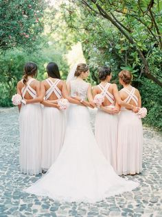 Custom Bridesmaid Dress, Chiffon Bridesmaid Dress, A-Line Bridesmaid Dress Bridesmaid Dresses 2018 Bridesmaids And Groomsmen, Wedding Bridesmaids, Junior Bridesmaids, White Bridesmaid Dresses, Wedding Dresses, Portuguese Wedding, Wedding Poses, Wedding Venues, Wedding Shoot