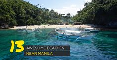Batangas, Zambales, Quezon, Laguna and Puerto Galera! If you're looking for cheap but great vacation spots near Manila, here are some of my recommendations. Visit Philippines, Philippines Beaches, Manila Philippines, Philippines Travel, Lombok, Work Travel, Asia Travel, Beach Trip, Vacation Trips