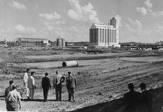 Acervo/Estadão - Obras de construção doCeasa, no bairro do Jaguaré, em março de 1962