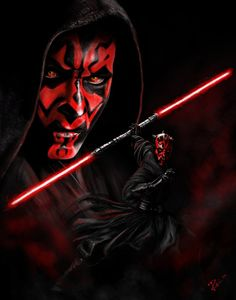 This FULL size duvet comforter cover features Star Wars Darth Maul, the Sith Lord introduced in Star Wars Episode I: The Phantom Menace, and again in the CGI Star Wars Fan Art, Star Wars Sith, Star Trek, Clone Wars, Lord Sith, Dark Side, Mundo Dos Games, Star Wars Images, Star Wars Wallpaper