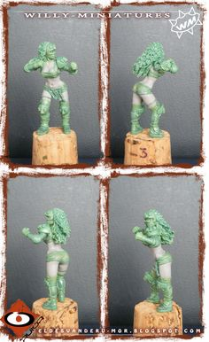 miniature of Amazon Team for Willy Miniatures, by ªRU-MOR