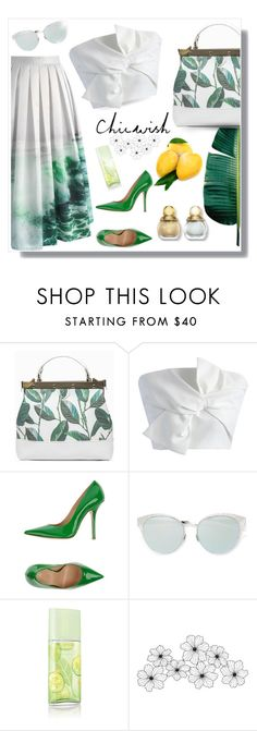 """""""Chicwish origami crop top"""" by ante-panda ❤ liked on Polyvore featuring Tammy & Benjamin, Chicwish, Fiorangelo, Elizabeth Arden and chicwish"""