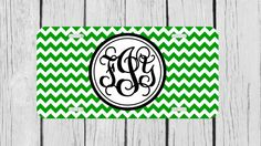 Personalized Monogrammed Chevron Vine Green by TopCraftCase