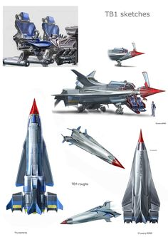 Thunderbird 1 sketches. Copyright Working Title Films 2004 Spaceship Art, Spaceship Concept, Concept Cars, Thunderbird 1, Timeless Series, Thunderbirds Are Go, Sci Fi Tv Shows, Technical Illustration, 80 Cartoons