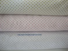 3 Yards Fabric Bundle-Dotted fabric in green dots, pink dots and pale blue dots Snuggle Cotton Flannel all cotton by flyingdollar on Etsy
