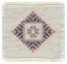 See the pretty Yugoslavian Weaving Learning Doily at Nordic Needle