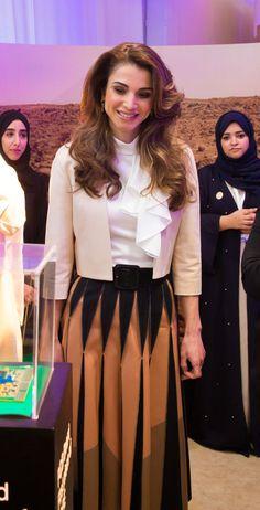 Queen Rania at the Global Women's Forum in Dubai Dubai, UAE/ February 23, 2016 Flickr