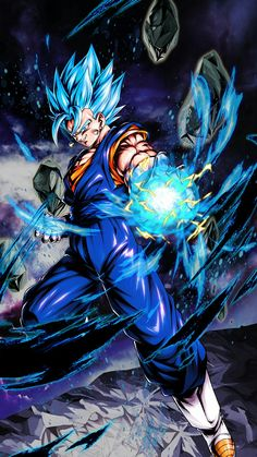 This is just an edit but itd be dope to see this though Dragon Ball Gt, Dragon Ball Image, Blue Dragon, Foto Do Goku, Goku Wallpaper, Wallpaper Naruto Shippuden, Animes Wallpapers, Vegito Ssj Blue, Anime Characters