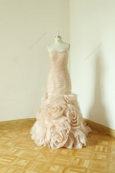 Blush fit and flare sequined wedding dress by MermaidBridal
