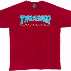 Tee Shirt Thrasher Outlined Cardinal Red – Popular Skateshop