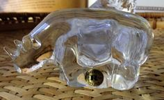 Reijmyre Swedish glass figurine hippopotamus