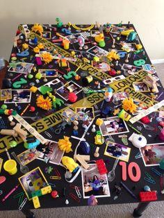 i spy board for spy night #PTA #birthday party