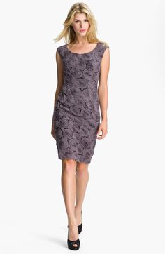 Adrianna Papell Rosette Detail Chiffon Sheath Dress available at #Nordstrom