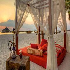 Romance on the beach...