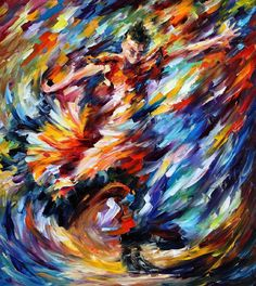 Leonid Afremov, oil on canvas, palette knife, buy original paintings, art, famous artist, biography, official page, online gallery, large artwork, young, snow, QUEEN, white dress, music, dance, girls