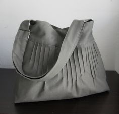Sale  Grey Canvas Diaper Bag with Extra Pockets by tippythai, $35.00