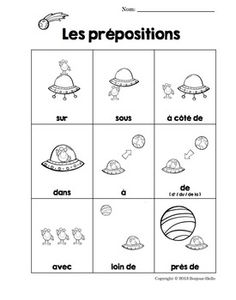 Browse over 20 educational resources created by Bonjour-Hello in the official Teachers Pay Teachers store. French Verbs, French Grammar, French Language Learning, Language Lessons, French Prepositions, French Basics, French Kids, Core French, French Classroom