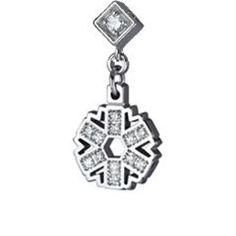 Diamond Charm Necklace Bracelet Snowflake