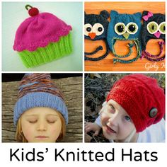 When the weather outside is frightful, wrap up little ones in these kids' knitted hats to keep them warm. Get the patterns on Craftsy!