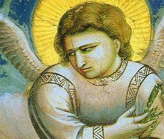 Giotto (Ambrogio Bondone) (Italian artist, 1267-1337) Detail of Angel from The Flight into Eypgt, a fresco in Padova, Scrovegni Chapel