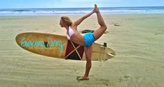 Surfboard to Yoga Mat: Improving Your Surfing Skills With Yoga @allaboutyoga Both activities require strength, flexibility and balance, and both have been linked with spirituality and vitality.
