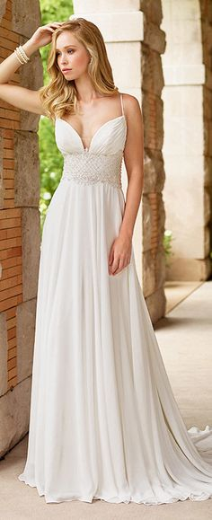 600024aa2cc2 118146 by Mon Cheri Bridal Gowns, Wedding Gowns, Chiffon, Spaghetti Straps,  Mon