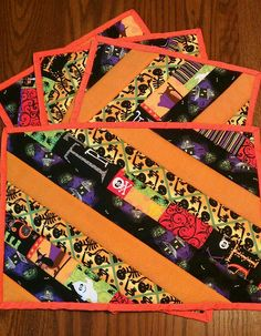 Halloween Quilted Placemats
