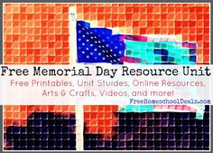 Free Memorial Day Resource Unit | Here's a free Memorial Day resource unit with over 40 free resources to help you create your own unit study and remember those men and women who sacrificed their lives for our freedom.