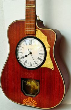 OOAK Stunning guitar clock by local artist Corey Stenhouse,   StraightFromOregon, $199.99
