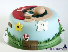 New Birthday Cake Boys Fondant 43 Ideas Super Mario Party, Bolo Super Mario, Super Mario Bros, Luigi Cake, Mario Bros Cake, Mario Birthday Cake, Super Mario Birthday, Mario E Luigi, Mario Kart