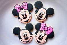 Baked Happy - Mickey & Minnie Mouse Cookies