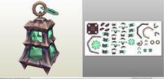 Papercraft .pdo file template for League of Legends - Tresh Lantern.