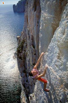 Free Climbing at Masua, Sardinia