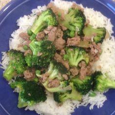 Voila! Dinner is served (Szechuan broccoli with ground turkey)