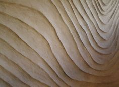 Shifting Dunes sculptural wall finish with Clayworks Clay Plasters.